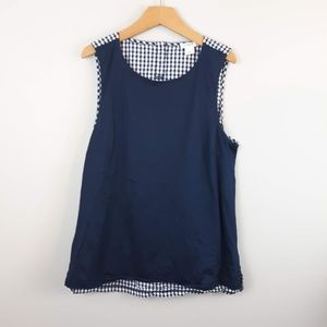 J.Crew Sleeveless Gingham Top Small